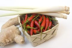 Basket of asian ingredients Royalty Free Stock Photo