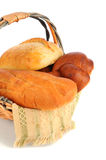 Basket of Assorted Breads Stock Images