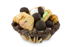 Basket of assorted cookies Royalty Free Stock Photo