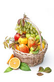 Basket of assorted fresh fruits Royalty Free Stock Image