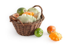 Basket with autumn vegetables Royalty Free Stock Photography