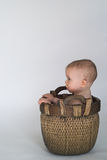 Basket Baby Royalty Free Stock Photos
