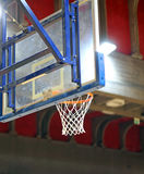 Basket and backboard inside the basketball cour Stock Photo