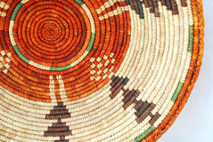 Western Basket Background. Colorful American Indian basket background close-up Stock Photos
