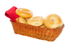 Basket of bagels Royalty Free Stock Images