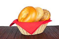 Basket of bagels Royalty Free Stock Photos