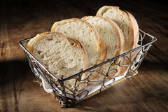 Basket with baguette Royalty Free Stock Photo