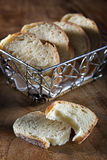 Basket with baguette Royalty Free Stock Photos