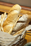 Basket of baguettes Royalty Free Stock Image