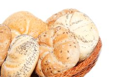 Basket with bakery products Stock Image