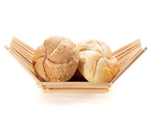 Basket with Bakery Products Royalty Free Stock Images
