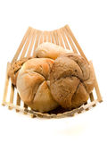 Basket with Bakery Products Royalty Free Stock Photography