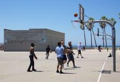 Basket-ball à la plage de Venise Image libre de droits