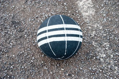 Basket ball. A close up of a ball on the street Stock Images
