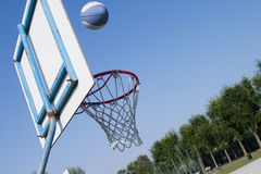 Basket ball. Basket  in diagonal Royalty Free Stock Photos