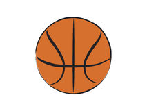 Basket Ball. Color close-up illustration of basket ball Royalty Free Stock Images