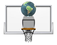 basket-ball 3d d'isolement sur un blanc Photos stock