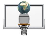 basket-ball 3d d'isolement sur un blanc Image libre de droits