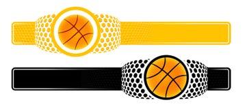 Basket-ball annonçant le drapeau Photo stock