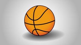 Basket-ball avec Gray Background Illustration Stock