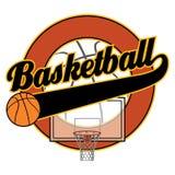 Basket-ball avec la bannière de queue Illustration de Vecteur
