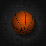 Basket ball background on black mesh Royalty Free Stock Images