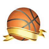 Basket ball with banner Stock Photography