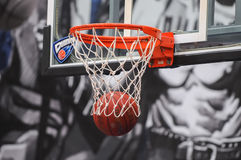 Basket and ball Royalty Free Stock Images