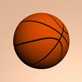 Basket ball. With black strips on creme background, created in 3d Studio Max Royalty Free Stock Photography