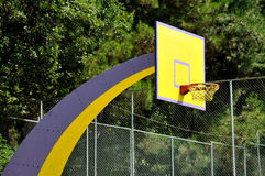 Basket ball board in the park Stock Images