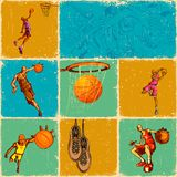Basket Ball Collage Stock Photos