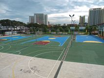 Basket Ball Court Royalty Free Stock Images