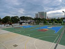 Basket Ball Court Royalty Free Stock Image