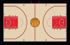 Basket-ball court Photo libre de droits