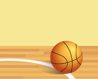 Basket ball. In a court royalty free illustration