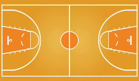 Basket-ball court Photos stock