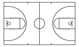 Basket-ball court Fond pour la stratégie de sport Élément d'Infographic Photographie stock libre de droits