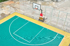 Basket ball court outdoor, street basketball Royalty Free Stock Photography