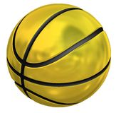 Basket-ball d'or Images stock