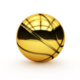 Basket-ball d'or Image stock