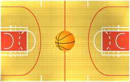 basket-ball d'arène Images libres de droits