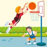 Basket-ball d'enfants illustration de vecteur