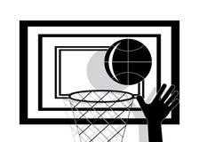 Basket-ball d'icône Photographie stock