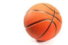 Basket-ball d'isolement sur le blanc Photographie stock