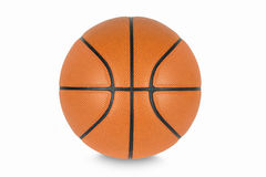 Basket-ball d'isolement sur le fond blanc Images stock