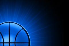 Basket-ball dans la fin d'extrémité vers le haut Photos libres de droits