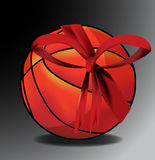 Basket-ball de cadeau Photo libre de droits
