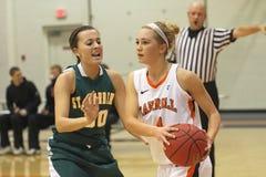 Basket-ball de filles de NCAA   Photo stock