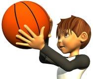 Basket-ball de garçon de gosse Photographie stock