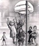 Basket-ball de jeu religieux. Photos libres de droits